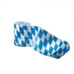 3 x 10 m Kreppband Oktoberfest Bayern Party blau-weiss 10 cm breit