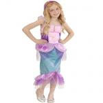 NIXE MEERJUNGFRAU Kinder Kostüm pink/grün Größe 128 5-7 Jahre