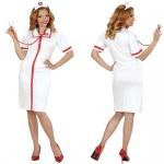 Tradidionell Krankenschwester Damen Kostüm-Uniform Nurse Arzt 34 36 38 40 42 44