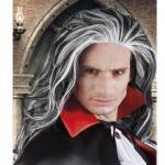 VAMPIR PERÜCKE Graf Dracula Verkleidung Halloween Karneval Fasching 083