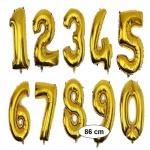 XXL Folienballon GOLD Zahlenballon Heliumballon Zahl 0 bis 9 Geburtstag Jubiläum