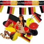 Deutschland - FAN-PARTY EM/WM FUSSBALL Fanartikel Flaggen Girlanden Deutschland