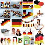 DEUTSCHLAND DEKO FAN ARTIKEL Fussball Party EM WM Teller Becher Ballons