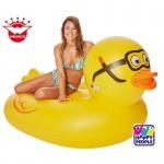 ENTE TAUCHENTE Badeinsel Wasserliege Floater Schwimminsel Luftmatratze Reittier