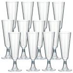 10 EINWEG SEKTGLÄSER Champagnerglas Sektglas 0, 1l Sektflöten Plastik Sektglas