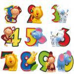 ZAHLENKERZE SAFARI TIERE Kerze Zahl 0-9 Kindergeburtstag Kuchenkerze Geburtstag