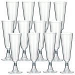 20 EINWEG SEKTGLÄSER Champagnerglas Sektglas 0, 1l Sektflöten Plastik Sektglas