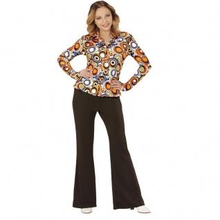 70er jahre damen schlaghose bluse schwarz kost m disco - Hippie bluse damen ...