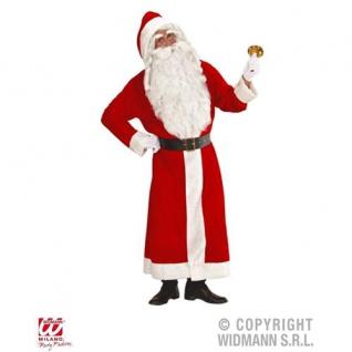 Deluxe Weihnachtsmann KostÜm Set Nikolaus Anzug Mantel Bart Perücke + Geschenkes - Vorschau 2
