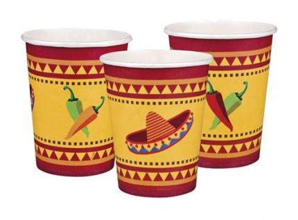 Fiesta Mexicana Mexico Party Mottoparty Deko Feier Servietten Teller Wimpelkette - Vorschau 2