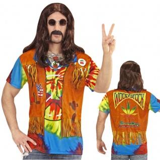 60er 70er Hippie Kostüm 3 D Shirt Partnerkostüm für Damen & Herren Flower Power - Vorschau 2
