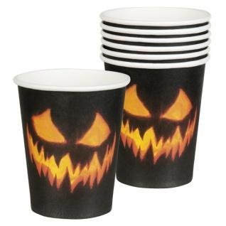 KÜRBIS GRUSEL Deko Halloween Party Dekoration -Teller Servietten Tischdecke Girl - Vorschau 2