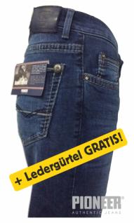 Pioneer Jeans RANDO blue Handcrafted + Ledergürtel GRATIS
