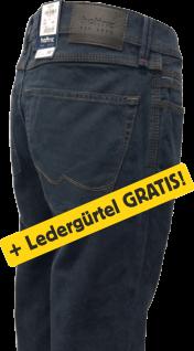 hattric Jeans HUNTER marine + GRATIS Ledergürtel