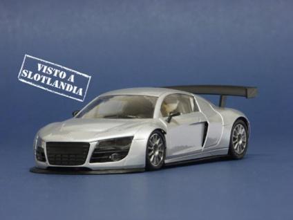 NSR Slotcars Audi R8 Test Car Silber