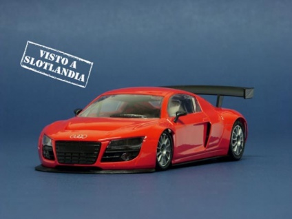 NSR Slotcars Audi R8 Test Car RED