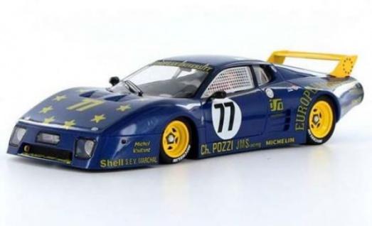 Sideways Ferrari 512BB/LM Le Mans 24h 1980 mit Slot.it Technik