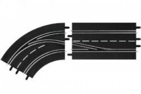 Carrera Digital 142 / 132 Spurwechselkurve Links - innen nach außen Art. 30362