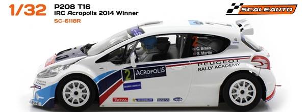 Scaleauto Peugeot 208 IRC Acropolis 2014 Winner SC 6118R