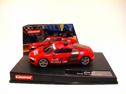 Carrera Evolution Audi R8 Safety Car LeMans 2010 Slotcar 1:32 27385