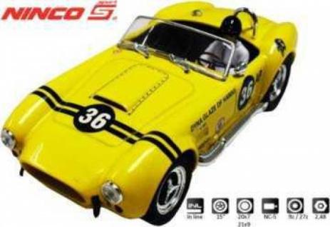 AC Cobra Yellow Sport Slotcar 1:32 von Ninco Art. 50561