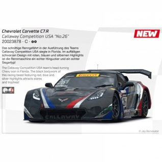Carrera Digital 124 Chevrolet Corvette C7.R Callaway Competition USA Nr.26 23878