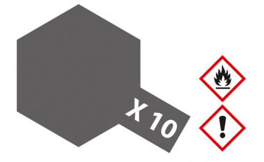 Tamiya, Acrylfarbe X-10 GUN METALL glänzend, 23ml Tamiya 81010
