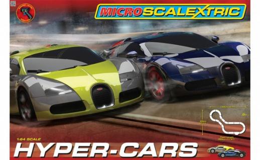 Scalextric Micro Hyper-Cars Rennbahn 1:64 1108