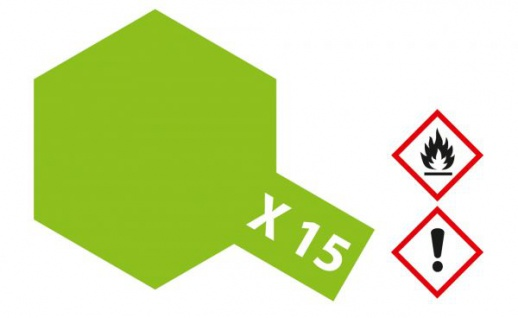 Tamiya, Acrylfarbe X-15 Hellgrün glänzend, 23ml Tamiya 81015
