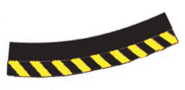 Carrera Außenrandstreifen für Steilkurve 3/30 20566 gelb