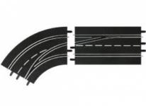 Carrera Digital 124/132 Spurwechselkurve Links-außen nach innen 30363
