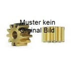 Motorritzel Messing für Motorwelle 2mm / 14 Zähne 1Stück