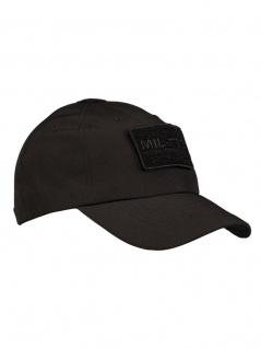 Softshell Baseball Cap schwarz mit Klett