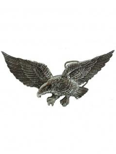 Gürtelschnalle fliegender Adler silber