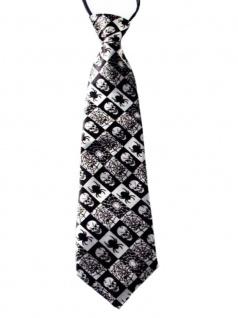 Krawatte Spinne Netz Skull