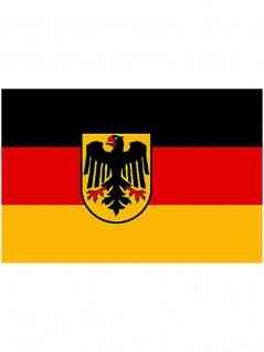 Deutschland mit Wappen Autofahne