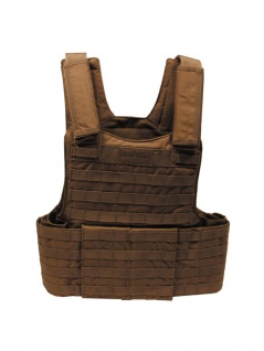 Weste mit Futter Molle coyote tan mit Modular System