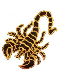 Aufnäher Skorpion gelb