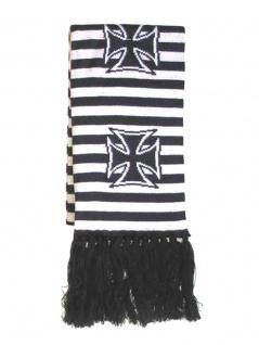 Winterschal Eisernes Kreuz schwarz weiss