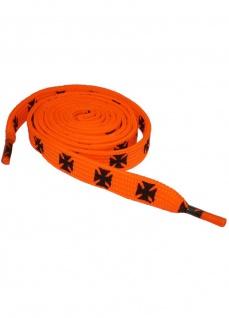 Schnürsenkel eisernes Kreuz orange schmal