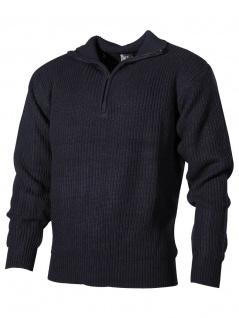 Isländer Pullover blau mit Reißverschluss