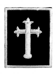 Aufnäher Kreuz schwarz