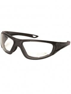 Biker Goggle Sportbrille mit Ersatzgläser schwarz