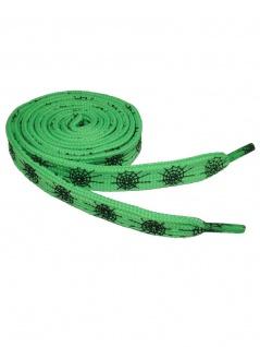 Schnürsenkel Spinnennetz grün schmal