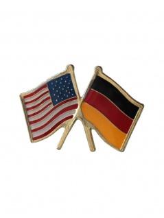 Anstecker Pin Flaggen USA Deutschland