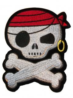 Aufbügler Pirat Skull