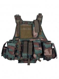 Tactical Weste woodland mit Modular System