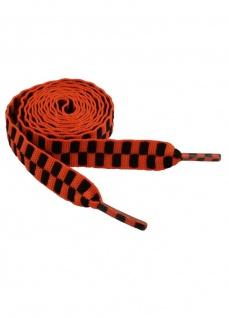 Schnürsenkel schwarz orange schmal