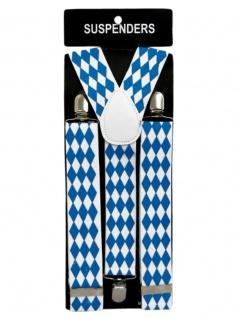 Hosenträger blau Bayern