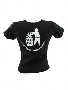 Kinder T-Shirt Halte deine Umwelt sauber schwarz
